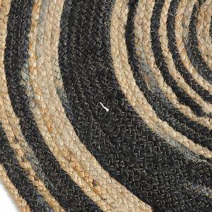 Covor rotund din iuta 90 cm