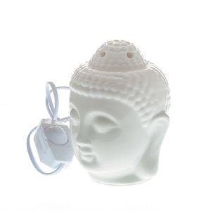 Suport alb aromaterapie Buddha 14cm