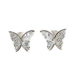 Cercei de argint model fluturi
