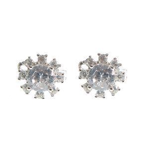 Cercei din argint design floare