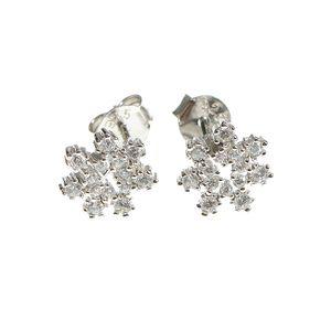 Cercei floare din argint