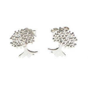 Cercei  din argint design copac