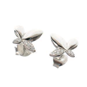 Cercei din argint model fluture