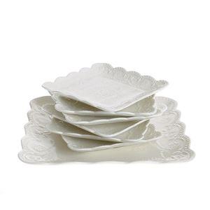Set de portelan pentru tort 7 buc