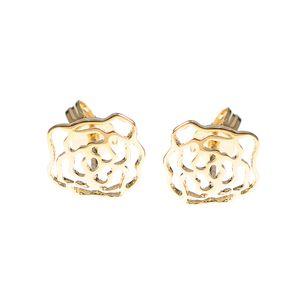 Cercei placati cu aur  design flori