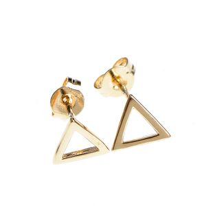 Cercei placati cu aur  triunghiuri
