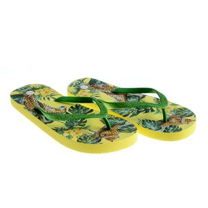 Papuci de plaja galbeni
