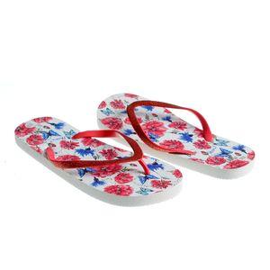Papuci de plaja cu print floral
