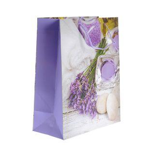Punga de cadou cu design lavanda  27 x 33 cm