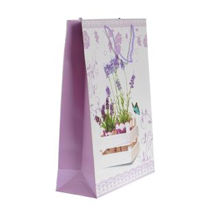 Punga de cadou cu design lavanda 31 x 42 cm