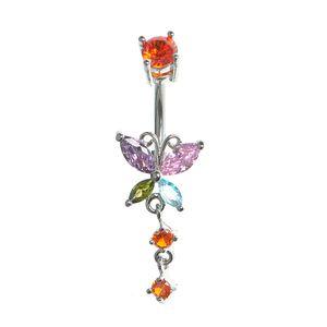 Piercing fluture multicolor