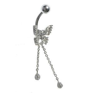 Piercing fluture argintiu