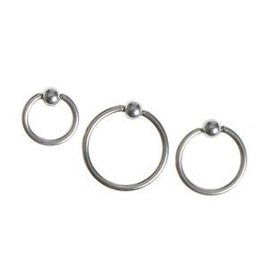 Set 3 piercinguri  argintii din otel pentru ureche
