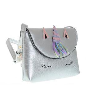 Geanta de umar argintie cu unicorn