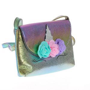 Geanta de umar multicolora cu unicorn