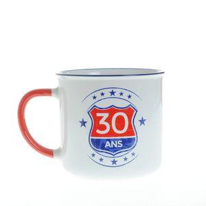 Cana alba din ceramica 30 de ani