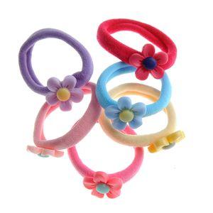 Set 6 elastice de par multicolore cu flori