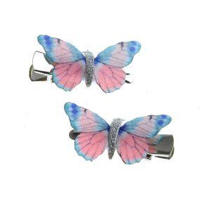 Set 2 agrafe de par cu fluturi mici