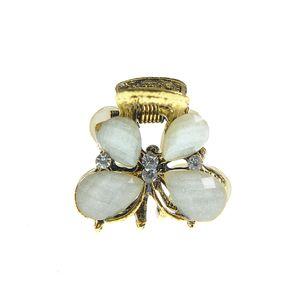 Cleste de par fluture auriu cu pietre albe