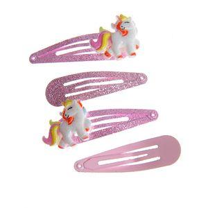 Set 4 agrafe cu unicorn