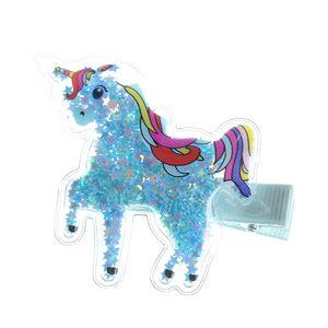 Agrafa de par model unicorn cu stele