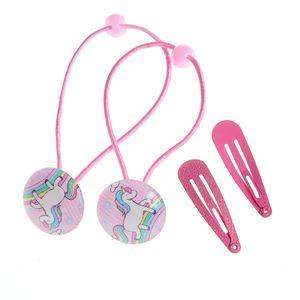 Set accesorii de par roz pentru fetite