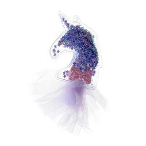 Agrafa de par unicorn mov