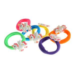Set 6 elastice de par multicolore cu unicorni