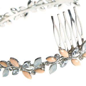 Bentita argintie design flori