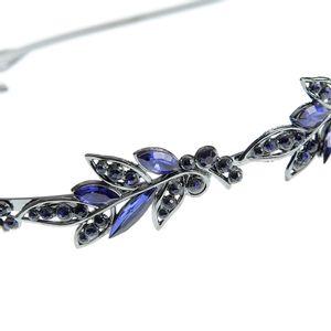 Bentita metalica cu pietre albastre