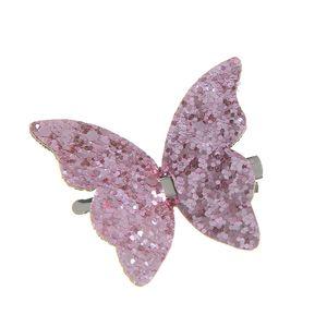 Agrafa de par fluture roz