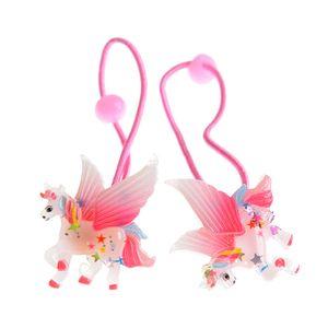 Set 2 elastice de par cu unicorn