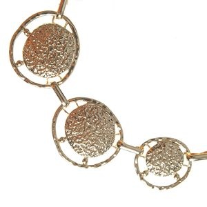 Colier metalic auriu