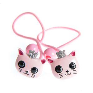 Set 2 elastice de par cu pisici roz