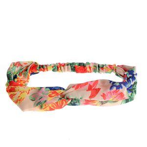 Bentita elastica cu print multicolor