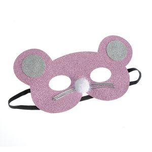 Masca roz cu sclipici roz pentru copii