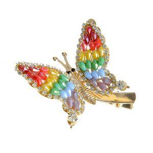 Agrafa fluture multicolor