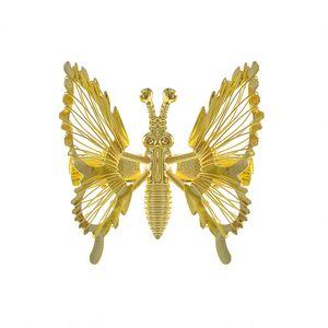 Agrafa de par fluture auriu