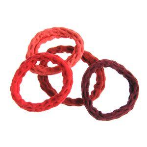 Set 4 elastice in nuante rosii