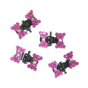 Set 4 clesti de par cu fundite roz