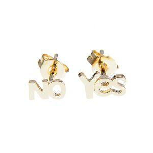 Cercei placati cu aur Yes & No