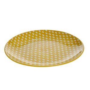 Farfurie galbena cu forma rotunda 20 cm