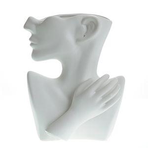 Vaza alba bust dama