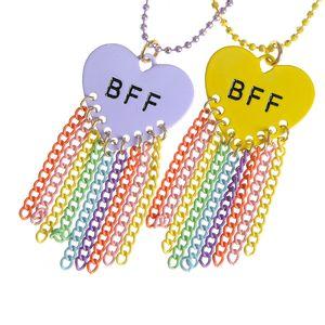 Set 2 coliere multicolore BFF