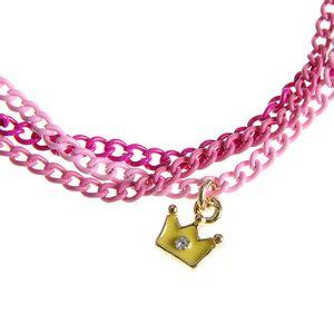 Bratara roz cu pandantiv coroana