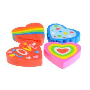Set 4 radiere inimi multicolore