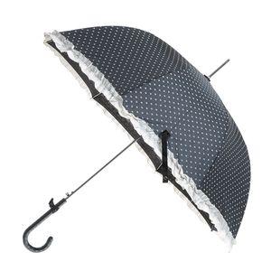 Umbrela tip baston cu inimi albe