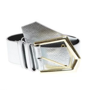 Curea lata argintie