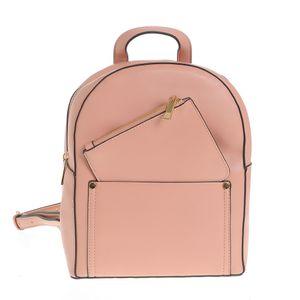 Rucsac roz cu portofel detasabil