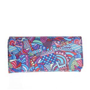 Portofel multicolor cu design abstract